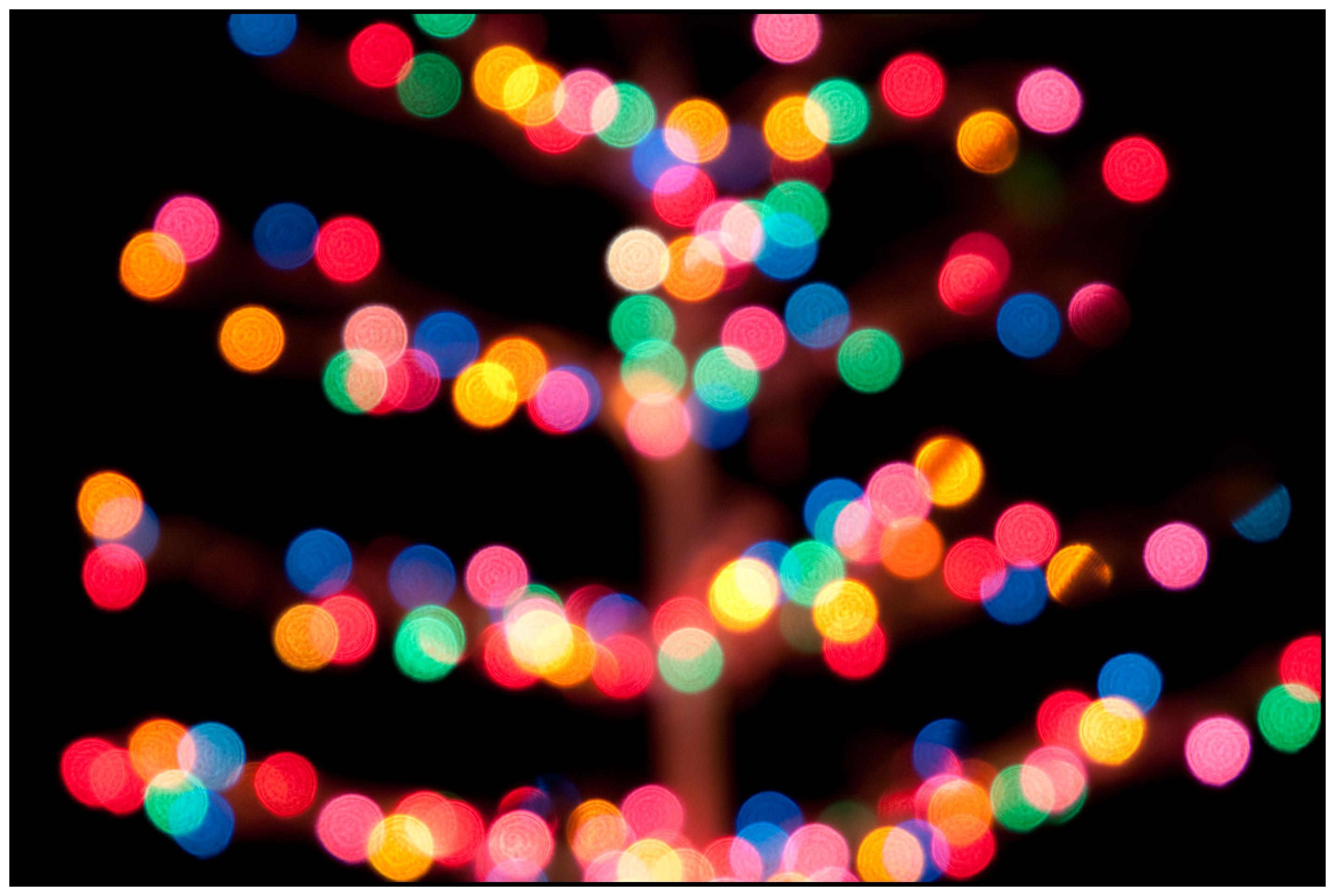 as - Blurred Christmas Lights
